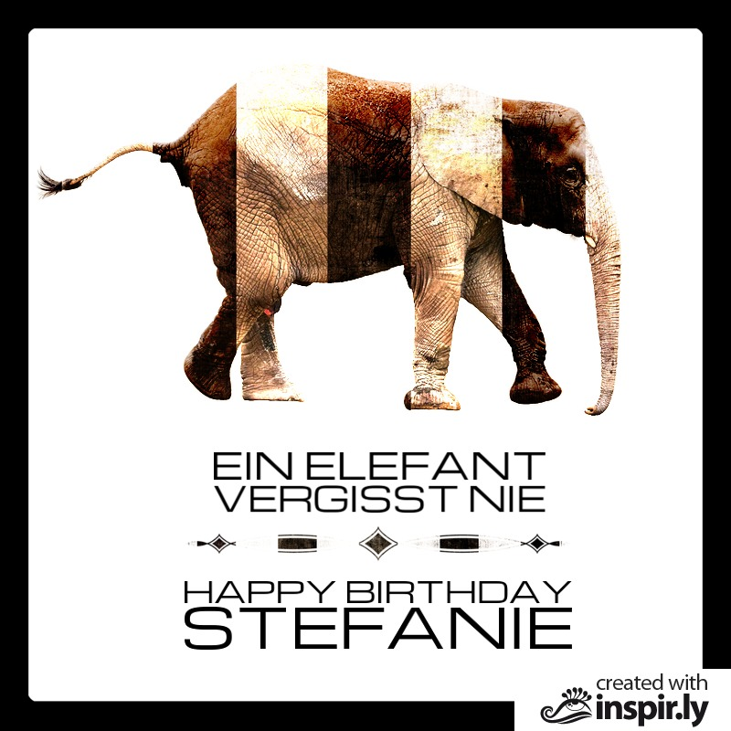 Ein Elefant vergisst nie - Happy Birthday-235323