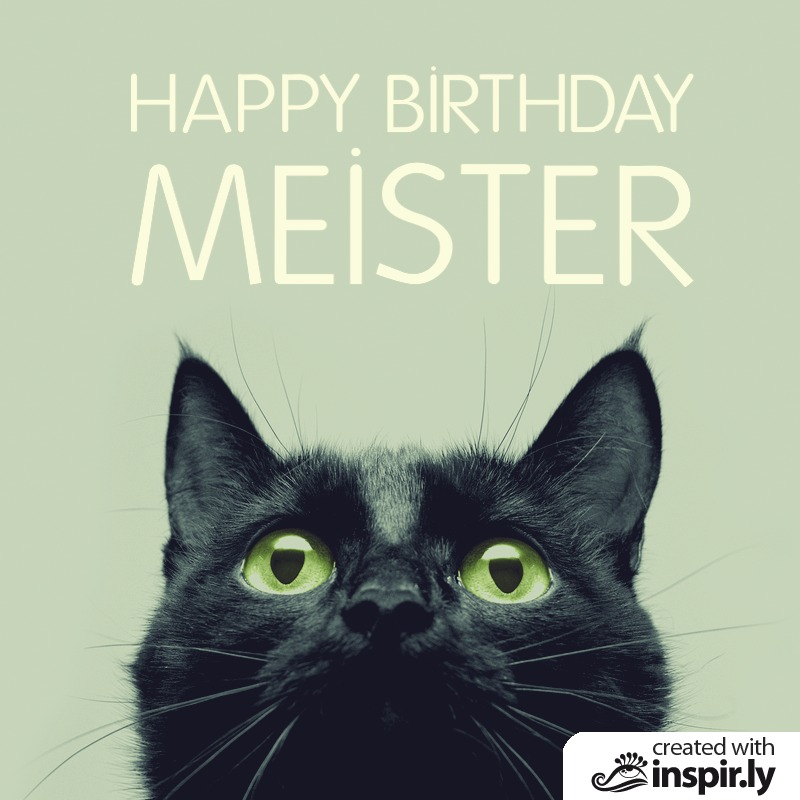 Happy Birthday Meister-235294